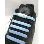 les lacet magnétique fast lace collection assortie point bleu ciel