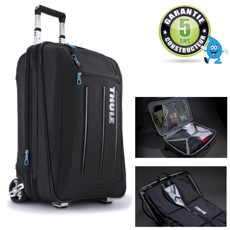 Valise a roulettes thule crossover 58 cm avec porte habits for Porte valise pour chambre