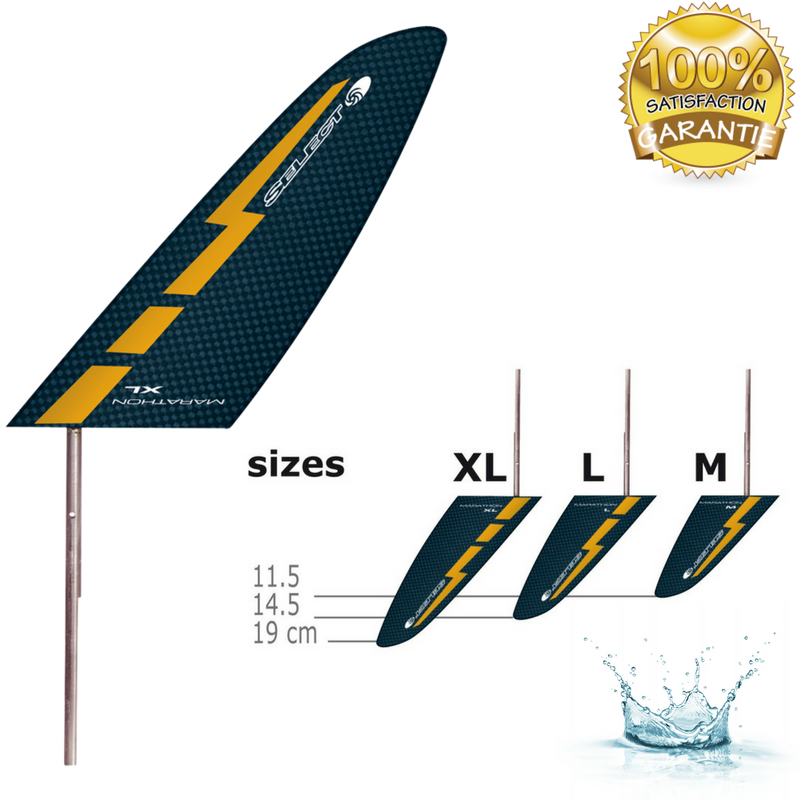 DÉRIVE CARBONE SELECT PADDLES POUR KAYAK DE MARATHON