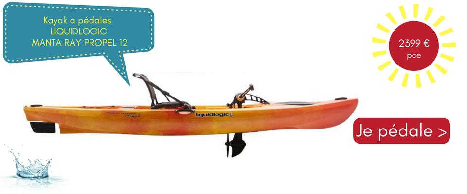 Je veux pédaler en kayak