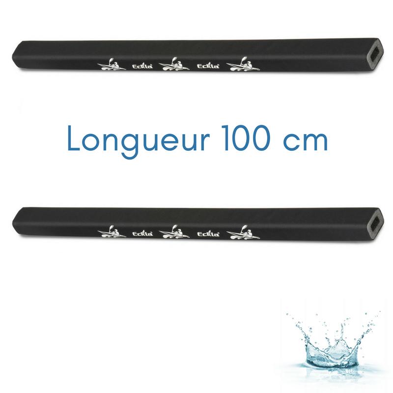 TUBES DE PROTECTION ECKLA POUR BARRES DE TOIT LONGUEUR 100 CM (PAIRE DE)