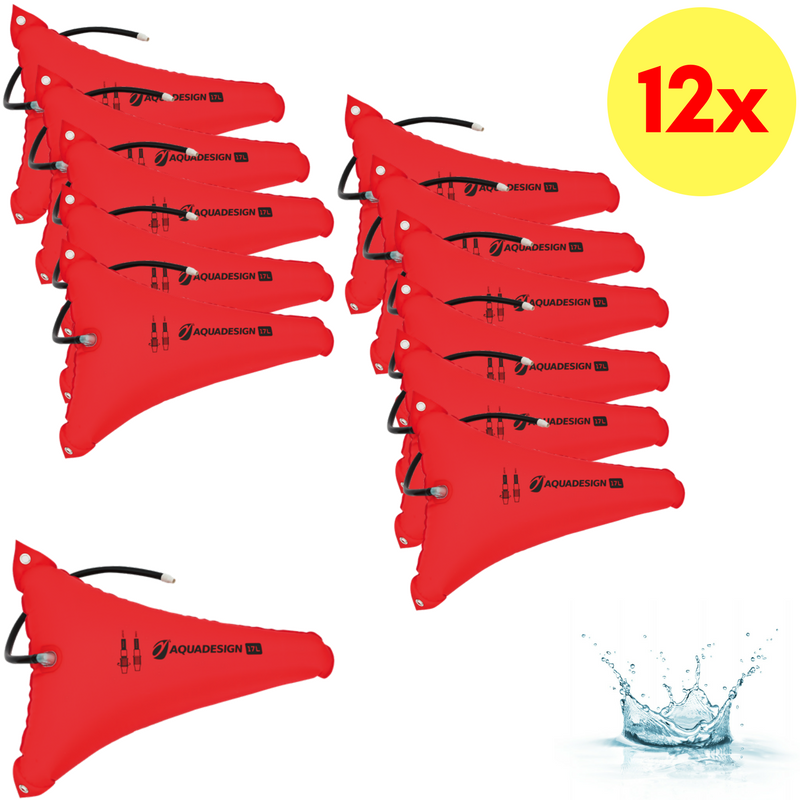 LOT DE 12 RESERVES DE FLOTTABILITE CANOE-KAYAK 17 LITRES AQUADESIGN