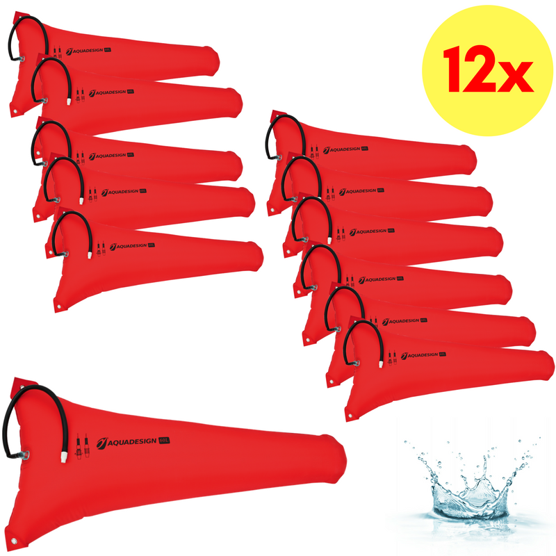 LOT DE 12 RESERVES DE FLOTTABILITE CANOE-KAYAK 60 LITRES AQUADESIGN