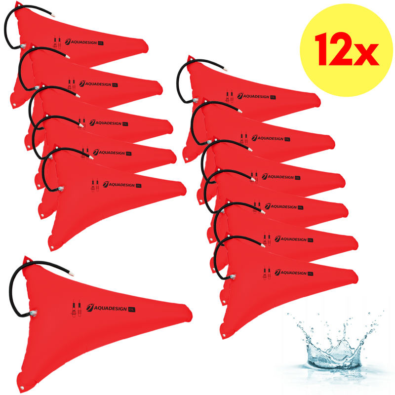 LOT DE 12 RESERVES DE FLOTTABILITE CANOE-KAYAK 35 LITRES AQUADESIGN