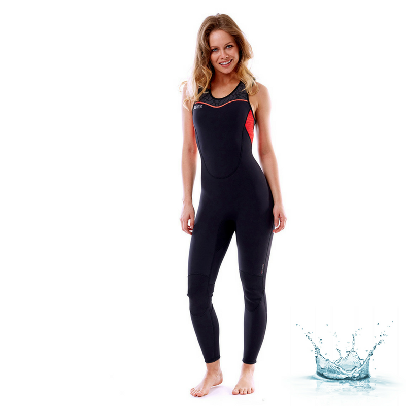 VGEN0318-JOBE-PORTO LONG JOHN 2MM WETSUIT WOMEN FURY RED