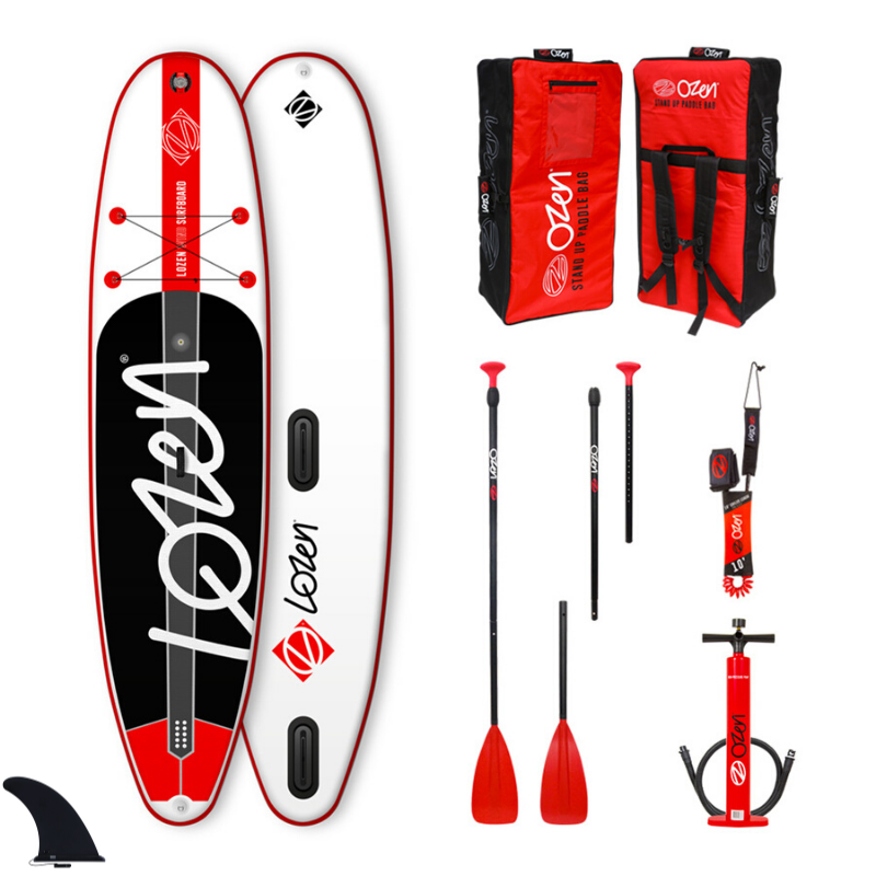 PACK SUP GONFLABLE LOZEN WINDSUP 10\'6 RED LINE (FUSION)