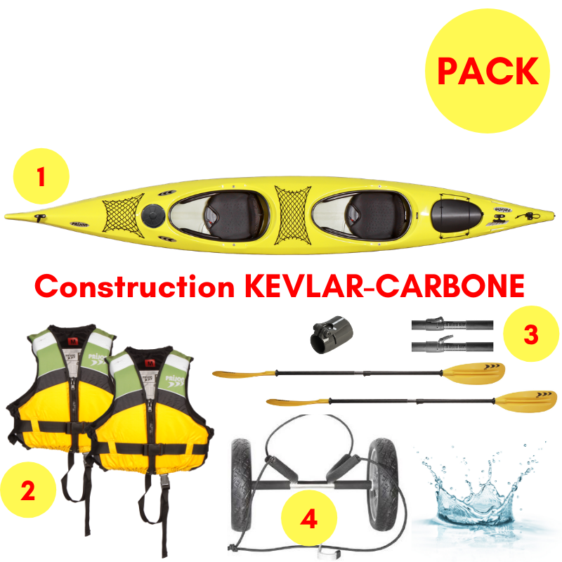 PACK KAYAK BIPLACE PIAVE KEVLAR CARBONE