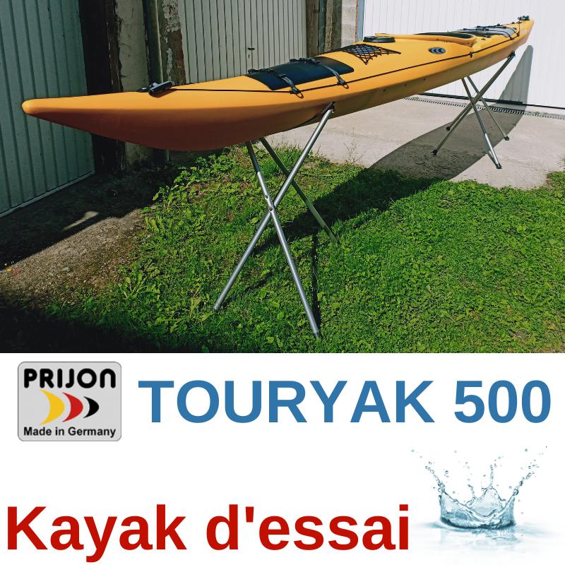 KAYAK DE RANDONNEE PRIJON TOURYAK 500 JAUNE (KAYAK D\'ESSAI)