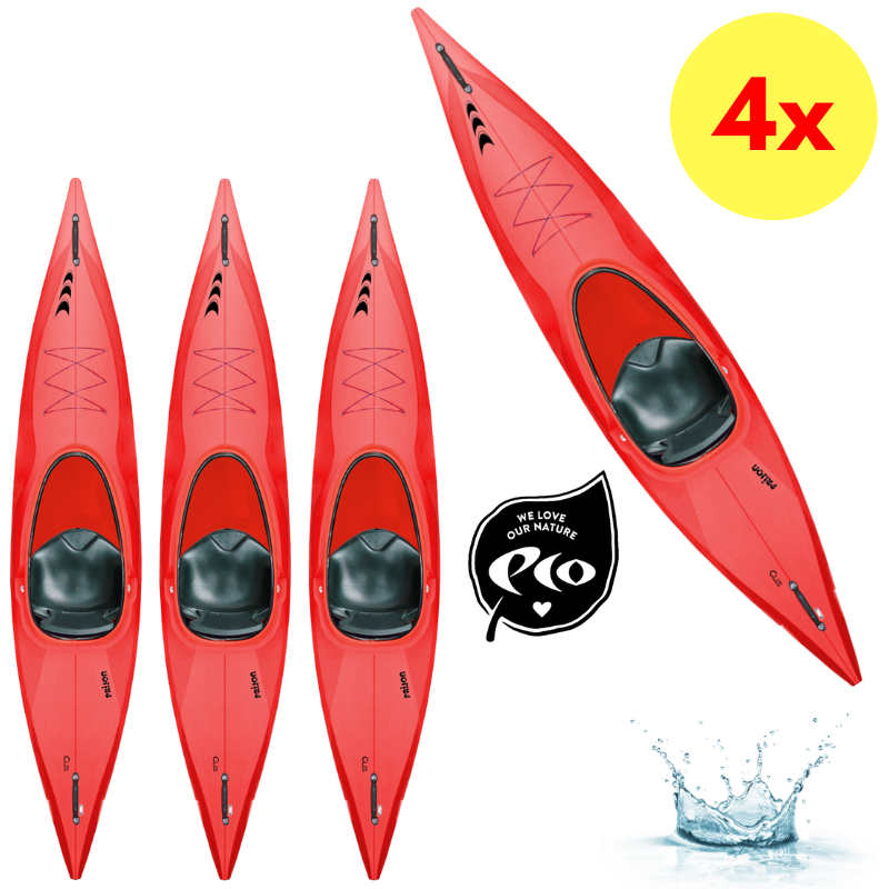 LOT DE 4 KAYAKS PRIJON CUSTOM LINE CL 370 BASIC