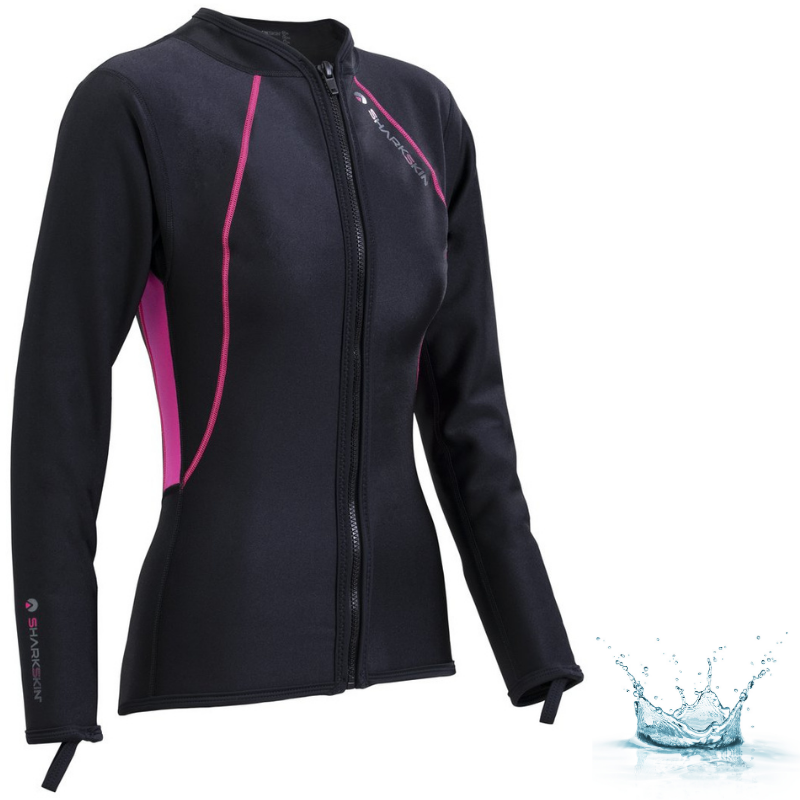 TOP MANCHES LONGUES AVEC ZIP SHARKSKIN CHILLPROOF - COUPE FEMME