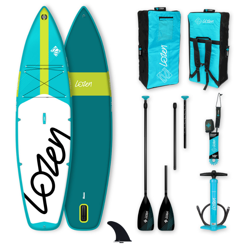 PACK SUP GONFLABLE LOZEN 10\'8 TOURING BLUE LINE