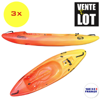 LOT DE 3 KAYAKS SIT-ON-TOP DAG SX230 CLUB