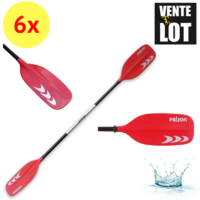 LOT DE 6 PAGAIES DE KAYAK PRIJON RIM KOMBINATION