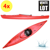 LOT DE 4 KAYAKS DE RANDONNEE PRIJON CUSTOM LINE CL 370 BASIC