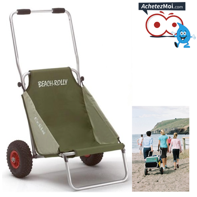 CHARIOT-SIÈGE ECKLA BEACH-ROLLY VERT OLIVE-BEIGE