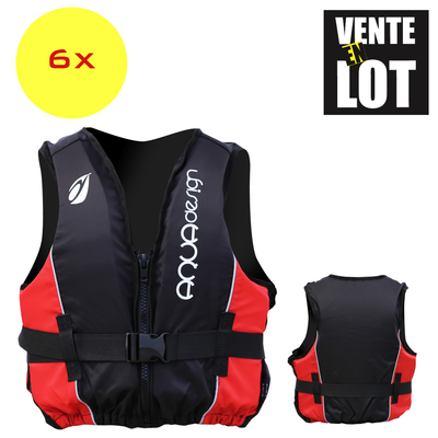 LOT DE 6 GILETS D'AIDE A LA FLOTTABILITE AQUADESIGN OUTDOOR CLUB 70 N
