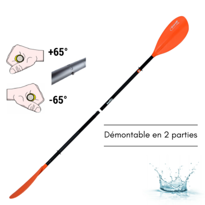 PAGAIE DE KAYAK DEMONTABLE 2 PARTIES EGALIS SWIFT FIRST SENIOR