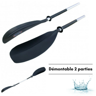 PAGAIE DOUBLE ASYMETRIQUE DEMONTABLE 2 PARTIES RTM ELEGANCE