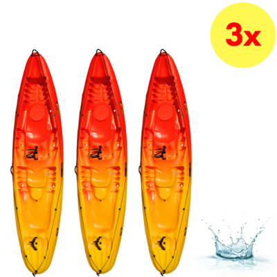 LOT DE 3 KAYAKS SIT-ON-TOP DAG TRIBAL OCEAN