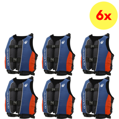 LOT DE 6 GILETS D'AIDE A LA FLOTTABILITE AQUADESIGN TWIST CLUB 70 N