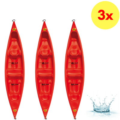 LOT DE 3 CANOES BIPLACES DAG CANADIA