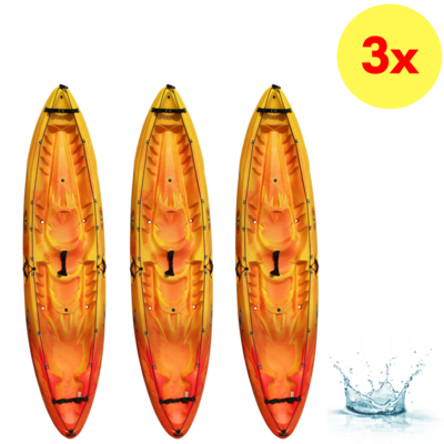 LOT DE 3 KAYAKS SIT-ON-TOP RTM KAYAKS OCEAN DUO