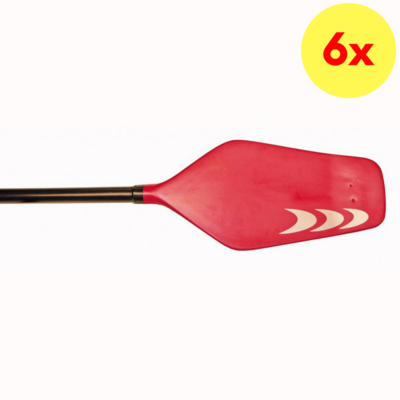LOT DE 6 PAGAIES DE KAYAK PRIJON RIM-POLO
