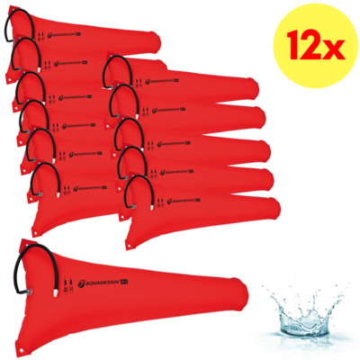 LOT DE 12 RESERVES DE FLOTTABILITE CANOE-KAYAK 40 LITRES AQUADESIGN