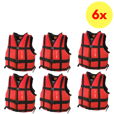LOT DE 6 GILETS D'AIDE A LA FLOTTABILITE AQUADESIGN EXPEDITION CLUB