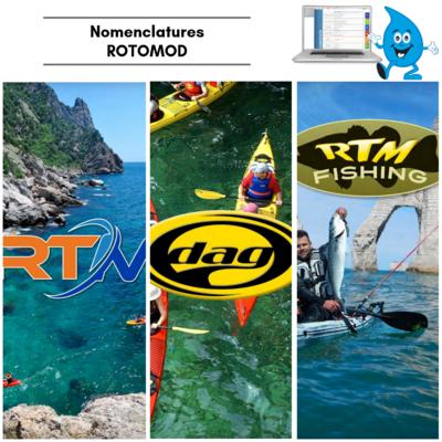 LES NOMENCLATURES ROTOMOD (RTM, DAG, RTM FISHING)