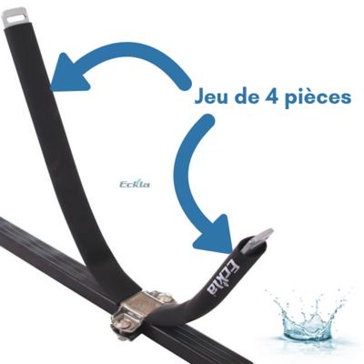 TUBES DE PROTECTION POUR PORTE-KAYAKS ET PORTE-CANOE ECKLA (JEU DE 4 TUBES)