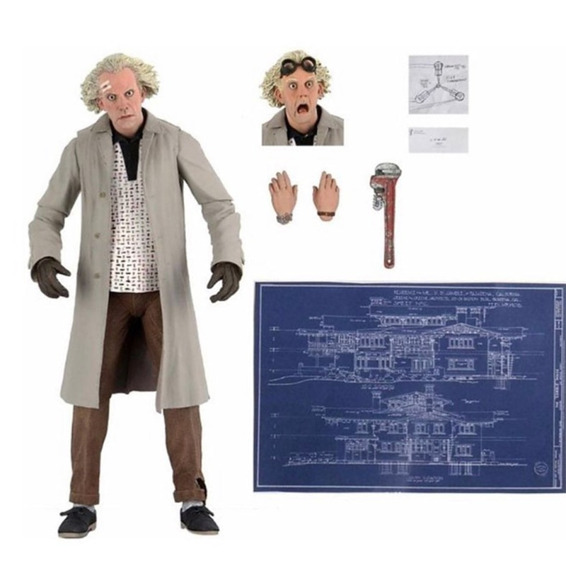DOC-Brown-Figure-Neca-Marty-McFly-Figure-retour-vers-le-futur-sport-almanach-ultime-le-35th