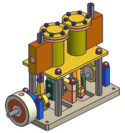 Liasse plans de fabrication moteurs à air comprimé.