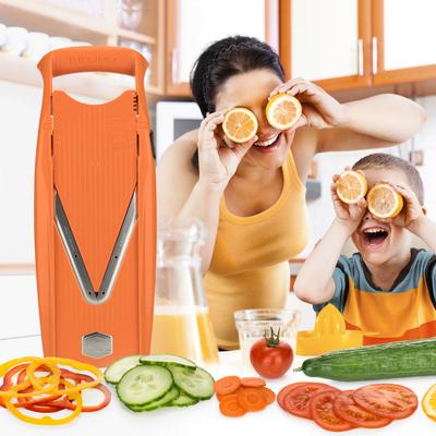 Mandoline V5 Powerline Orange Version Original + Box de rangement des plaques de coupe