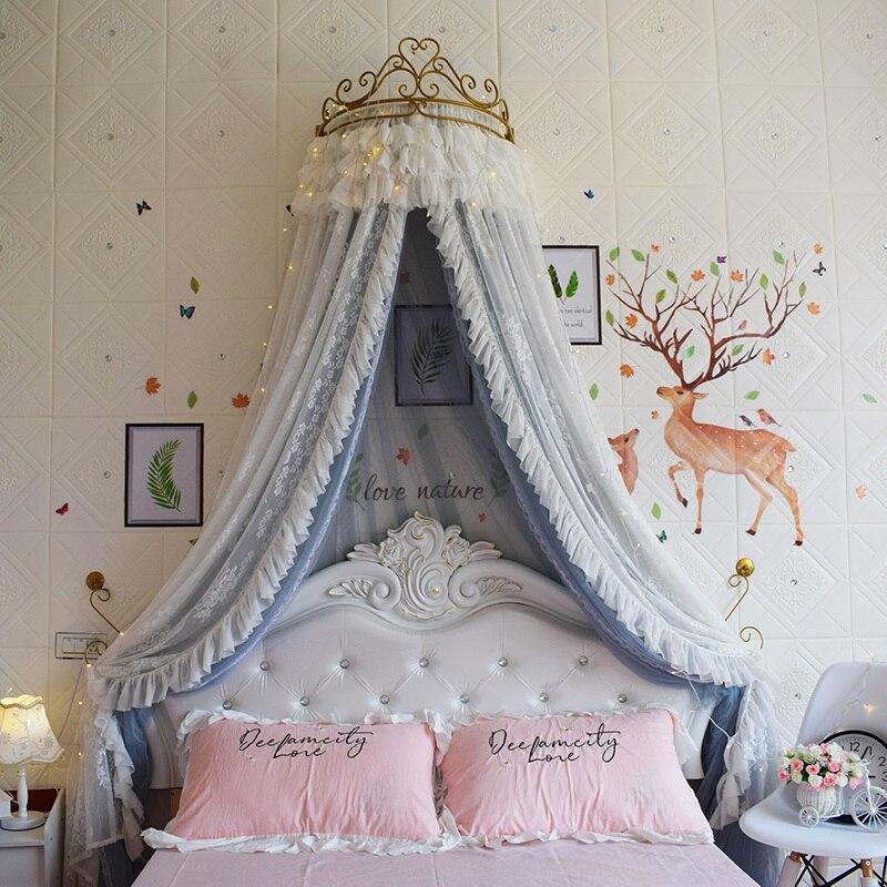 Ciel de Lit Princesse avec Couronne | Voile Turquoise