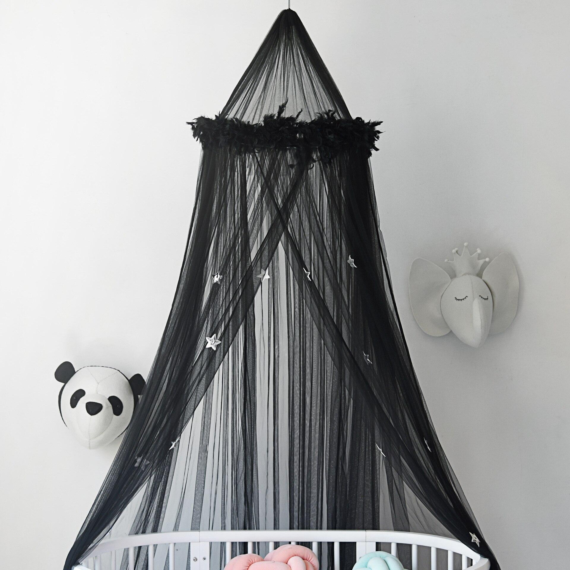 Ciel de Lit Bébé | Noir Transparent