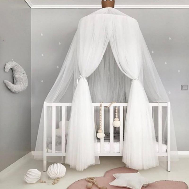 Ciel de Lit Bébé | Blanc avec Couronne