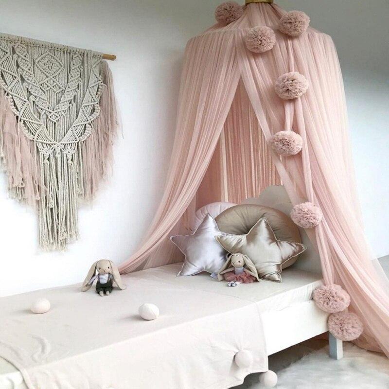 Ciel de Lit Bébé   Rose Pastel Enrobé