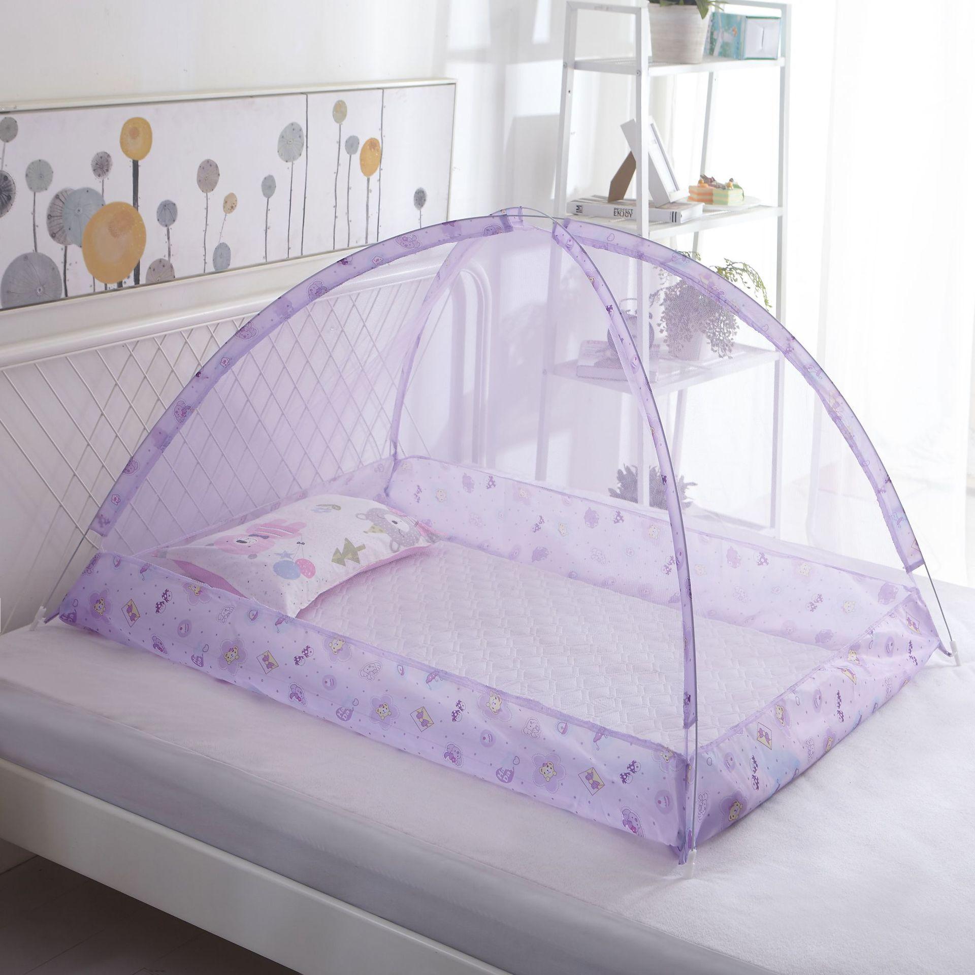 Moustiquaire Lit Bébé | Violet avec Motifs
