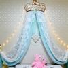 Ciel de Lit Princesse avec Couronne | Voile Bleu Ciel