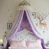 Ciel de Lit Princesse avec Couronne   Voile Violet