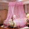 Ciel de lit adultes rose luxueux