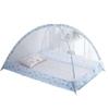 Moustiquaire Lit Bébé | Bleu avec Motifs fond blanc