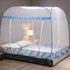 Moustiquaire Lit 2 Places | Thème Cubiste Bleu