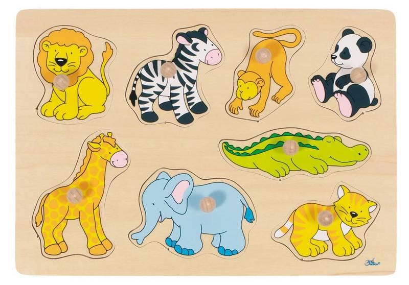 Houten puzzel Wilde dieren GOKI
