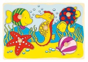 Houten puzzel Zeepaard GOKI