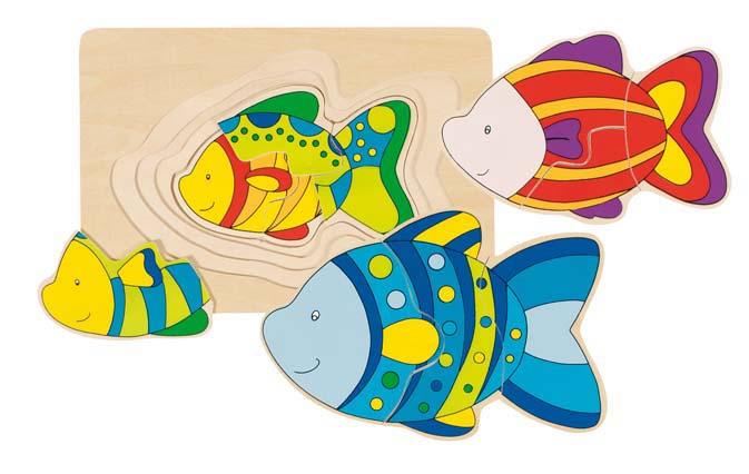 Puzzel Vis met laagjes GOKI