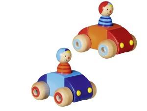 Auto met klaxon en poppetje GOKI