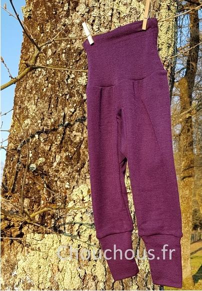 Cosilana Pantalon Violet - laine/soie