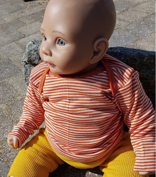 Cosilana T-shirt manches longues Oranje gestreept